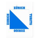 Bandera del cantón de Zurich Suiza Postal