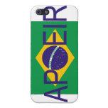 bandera del capoeira para el iphone iPhone 5 fundas