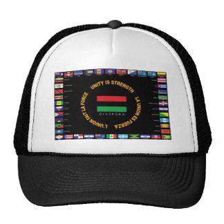 Bandera del Caribe oficial de la unidad Gorros Bordados