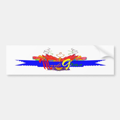 Bandera del carnaval etiqueta de parachoque