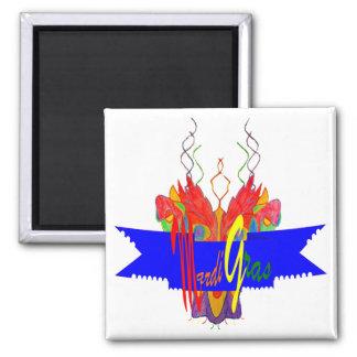 Bandera del carnaval imán cuadrado