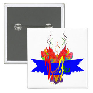 Bandera del carnaval pin cuadrada 5 cm