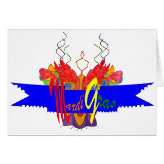 Bandera del carnaval tarjeta de felicitación