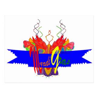 Bandera del carnaval tarjetas postales