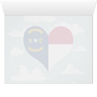 Bandera del Carolinian del norte en un fondo
