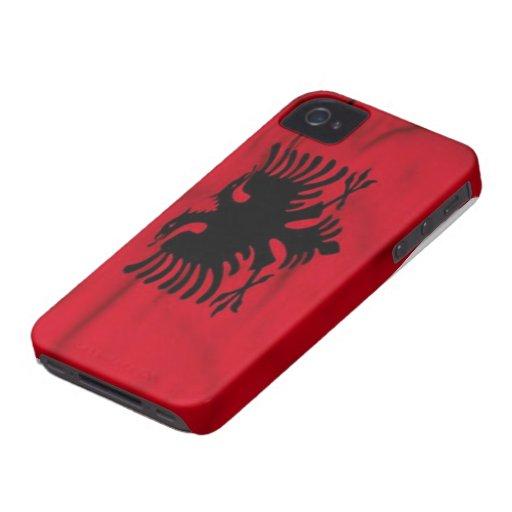 Bandera del caso del iPhone 4/4S de Albania iPhone 4 Cobertura
