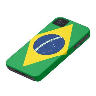 Bandera del caso del iPhone 4/4S del Brasil Case-Mate iPhone 4 Protectores