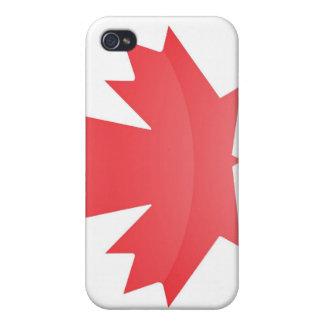 Bandera del caso del iPhone 4 de Canadá iPhone 4 Protectores
