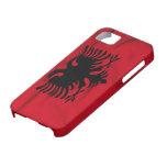 Bandera del caso del iPhone 5 de Albania iPhone 5 Case-Mate Fundas