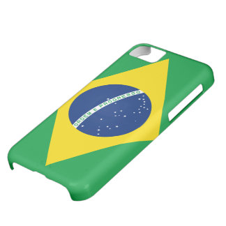 Bandera del caso del iPhone 5 del Brasil