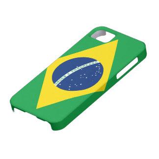 Bandera del caso del iPhone 5 del Brasil iPhone 5 Fundas