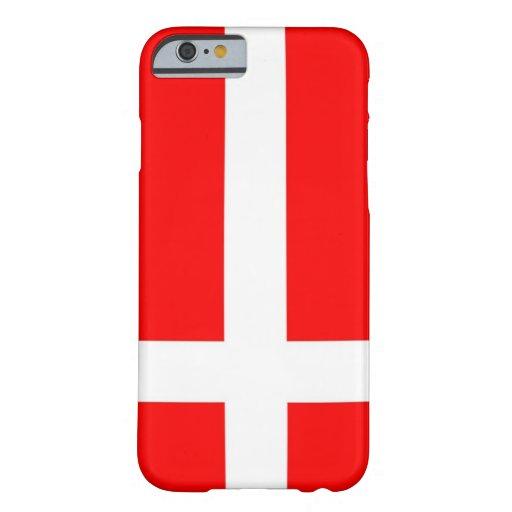 Bandera del caso del iPhone 6 de Dinamarca Funda De iPhone 6 Barely There