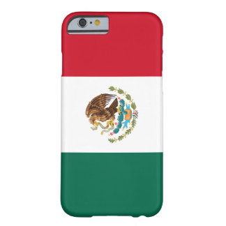 Bandera del caso del iPhone 6 de México Funda De iPhone 6 Barely There
