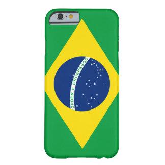 Bandera del caso del iPhone 6 del Brasil Funda Para iPhone 6 Barely There