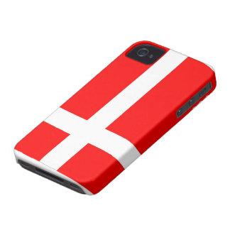 Bandera del caso intrépido de Dinamarca Blackberry iPhone 4 Case-Mate Coberturas
