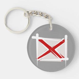 Bandera del cepillo de Alabama Llaveros
