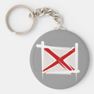 Bandera del cepillo de Alabama Llavero