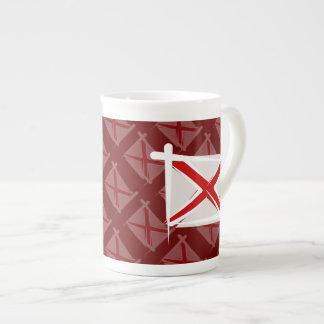 Bandera del cepillo de Alabama Taza De Porcelana