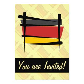 """Bandera del cepillo de Alemania Invitación 5"""" X 7"""""""