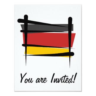Bandera del cepillo de Alemania Invitación