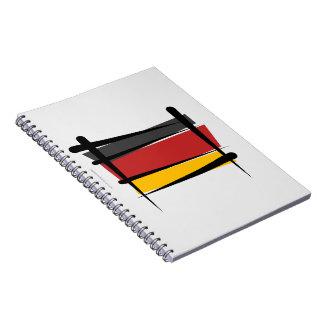 Bandera del cepillo de Alemania Cuaderno