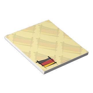 Bandera del cepillo de Alemania Libretas Para Notas