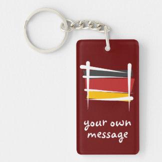 Bandera del cepillo de Alemania Llavero Rectangular Acrílico A Doble Cara
