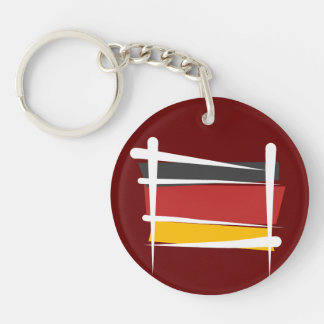 Bandera del cepillo de Alemania Llavero Redondo Acrílico A Doble Cara