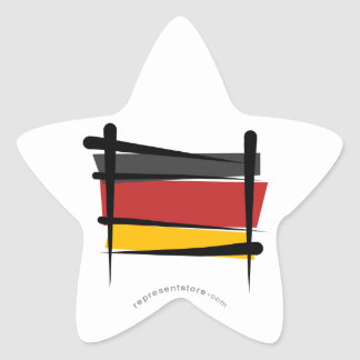 Bandera del cepillo de Alemania Colcomanias Forma De Estrellaes Personalizadas