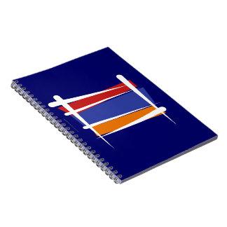 Bandera del cepillo de Armenia Libros De Apuntes Con Espiral