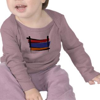 Bandera del cepillo de Armenia Camisetas