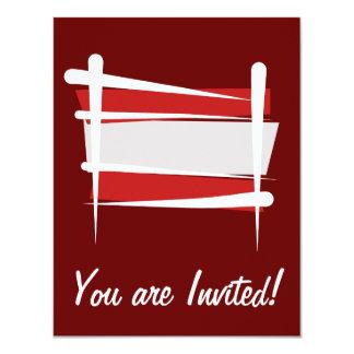 """Bandera del cepillo de Austria Invitación 4.25"""" X 5.5"""""""