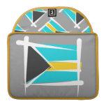 Bandera del cepillo de Bahamas Fundas Macbook Pro