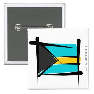 Bandera del cepillo de Bahamas Pin