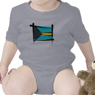 Bandera del cepillo de Bahamas Camiseta