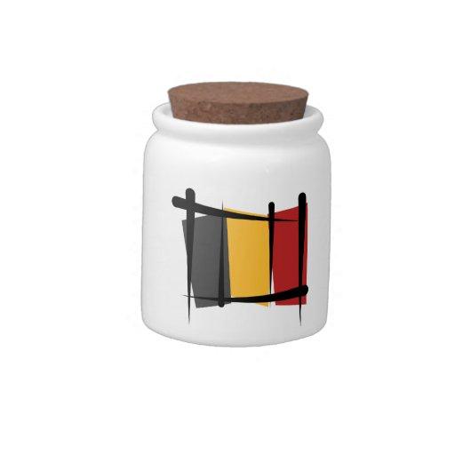 Bandera del cepillo de Bélgica Jarras Para Caramelos