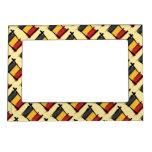 Bandera del cepillo de Bélgica Marcos Magnéticos De Fotos