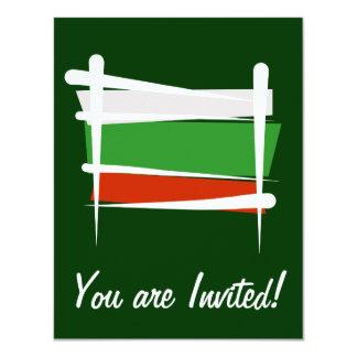 """Bandera del cepillo de Bulgaria Invitación 4.25"""" X 5.5"""""""