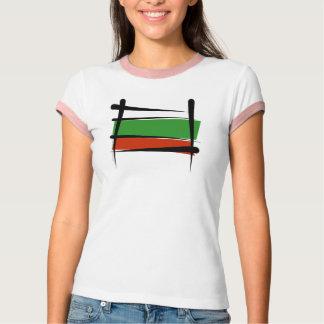 Bandera del cepillo de Bulgaria Playera