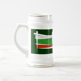 Bandera del cepillo de Bulgaria Jarra De Cerveza