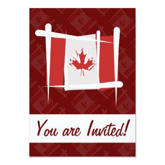 """Bandera del cepillo de Canadá Invitación 5"""" X 7"""""""