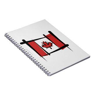 Bandera del cepillo de Canadá Libro De Apuntes