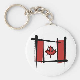 Bandera del cepillo de Canadá Llavero Redondo Tipo Pin