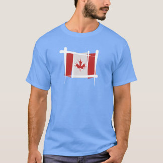 Bandera del cepillo de Canadá Playera