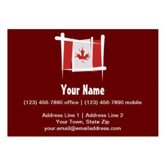 Bandera del cepillo de Canadá Tarjetas De Visita Grandes