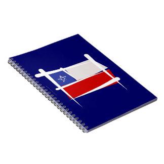 Bandera del cepillo de Chile Libro De Apuntes Con Espiral