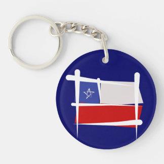Bandera del cepillo de Chile Llavero Redondo Acrílico A Doble Cara