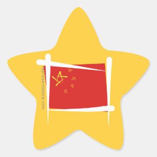 Bandera del cepillo de China Calcomanía Forma De Estrella Personalizada