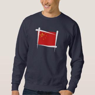 Bandera del cepillo de China Sudadera