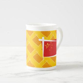 Bandera del cepillo de China Taza De Porcelana